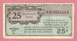 USA United States, 25 Cents, 1946 Military Payment Certificate - Military Payment Certificates (1946-1973)