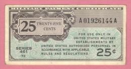 USA United States, 25 Cents, 1946 Military Payment Certificate - Certificati Di Pagamenti Militari (1946-1973)