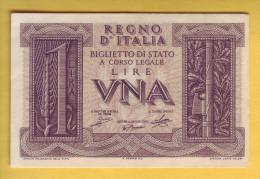 ITALIE - Billet De 1 Lira. 14-11-1939. Pick: 26. NEUF - Regno D'Italia – 1 Lira