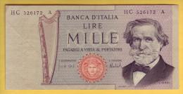 ITALIE - Billet De 1000 Lire. 1969-81. Pick: 101c. SUP+ - 1000 Lire