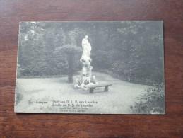 Grot Van O.L.V Van Lourdes Beeld Van Den H. Jozef / Anno 1914 ( Zie Foto Voor Details ) !! - Edegem