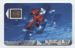 TRES RARE - F133B Skieur 1 120u SC5an Trou De Puce 6 (lot N° 22651) - 1990