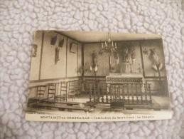 A223. CPA 63 .MONTAIGUT-en-COMBRAILLES.Institution Du Sacré-Coeur.la Chapelle.   Beau Plan . Ecrite & Voyagée 1923 - Montaigut