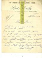 71 - Saône-et-loire - MARCIGNY - Facture LIVET-POUILLY - ébénisterie-tapisserie – 1926 - REF 164 - France