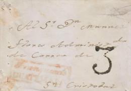 G)1849 GUATEMALA, 3 REALES MARK, FRANQUEADO EN GUATEMALA RED BOX, FRONT COVER, F - Guatemala