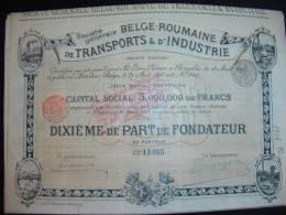 Soc Generale Belge Roumaine De Transports Et D'industrie (Roumanie)Rômania - Transports
