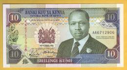 KENYA - Billet De 10 Shillings. 14-10-1989. Pick: 24a. NEUF - Kenia
