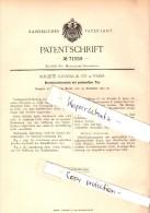 Original Patent - Société Gavioli & Co In Paris , 1892 , Blechblasinstrument , Tuba , Posaune , Trompete , Trumpet !!! - Musikinstrumente