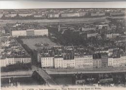 CPA Lyon, Vue Panoramique, Place Bellecour Et Les Quais Du Rhône (pk15347) - Lyon