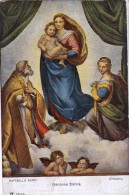 AK ENGEL ANGEL RAFFAELLO SANTI  MADONNA SIXTINA  DRESDEN AACKERMANN .2318. B. ALTE POSTKARTE - Anges