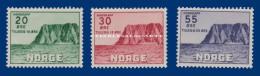 1953 NORWAY NORTH CAPE IV U.M. FACIT 413-415 CAP NORD N.S.C. - Neufs