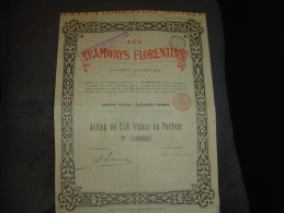 """Action""""Les Tramways Florentins""""1897 Firenze N°00936.Florence Italie - Railway & Tramway"""