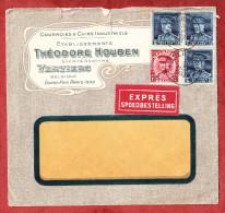 Illustrierter Umschlag Baum, Expres, MiF Koenig Albert, Verviers Nach Rueti Zuerich 1933 (69488) - Belgien