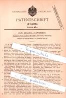 Original Patent - Carl Krätzig In Löwenberg / Lwówek Slaski , 1902 , Kombinierte Erntemaschine , Agrar !!! - Schlesien