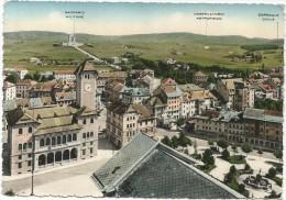 K2252 Asiago (Vicenza) - Panorama - Sacrario Militare - Osservatorio Astronomico - Ospedale Civile / Viaggiata 1956 - Altre Città