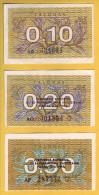LITUANIE - Lot De 3 Billets 0,10 - 0,20 - 0,50 Talonas. 1991. NEUF - Lituania