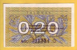 LITUANIE - Billet De 0,20 Talonas. 1991. Pick:30. NEUF - Lithuania