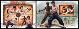 CENTRAL AFRICA 2013 - Bruce Lee, Kung Fu. M/S + S/S. Official Issue - Film