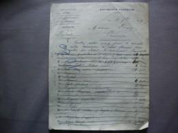 BACHANT NORD LE MAIRE BLARY E. COURRIER COMMANDE POUR LA RENTREE DES CLASSES DU 18 7bre 1919 - Historische Dokumente