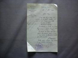 PRISCHES NORD LE MAIRE COURRIER DU 4 AVRIL 1923 CONCOURS DE TAUREAUX LE LUNDI DE PACQUES - Historische Dokumente