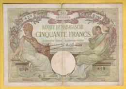 MADAGASCAR - Billet De 50 Francs. 1937-47. Pick: 38. TB - Madagascar