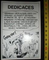 PUBLICITE SEANCE DEDICACE HERMANN A BAGNOLET - Vieux Papiers