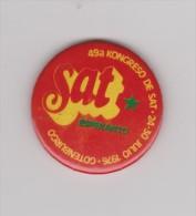 (EP) Pin Esperanto 1976 SAT-Kongreso En Gotenburgo - Esperanto Congress In Gothenburg - Steden