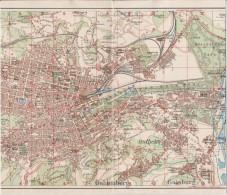 Map Of Stuttgart From 1925 - Geographische Kaarten
