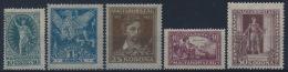 *Hungary 1923 Mi 369-73 (5) Poet Petöfi MH - Ungebraucht