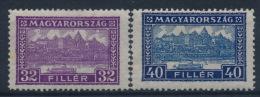 *Hungary 1926 Mi 421A-22A (2) MH - Ungebraucht