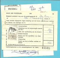 """2127 op dokumet (douane taks) met stempel GENT / DOUANE !!!samen met dokument """"Kwitantie BTW"""""""