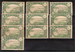 NIGER / 10 Exemplaires YT N° 37 De 1926/1938 Oblitérés Livrés Sans Le Présentoir - Niger (1921-1944)
