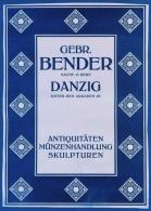 GERMANY - BENDER - ANTIQUITATEN - MUNZENHANDLUNG - DANZIG - Cc 1910 - Afiches