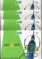 Cours De Perfectionnement En Anglais -  Axoquick N° 1, 2, 4, 6 - édités Par Laboratoires Parke-Davis - Langue Anglaise/ Grammaire