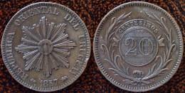 (J) URUGUAY: 20 Centésimos 1857D XF (602)  SALE!!!!! - Uruguay