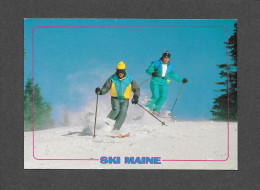 SPORTS D' HIVER - SKI - SKI DOWN MAINE - WHERE THE CROWDS ARE FEW - PUB. BY THE MAINE SCENE - Sports D'hiver