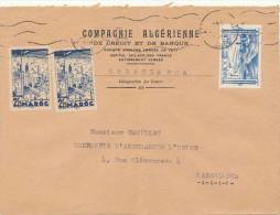 ENVELOPPE  CASABLANCA COMPAGNIE ALGERIENNE DE CREDIT - Marokko (1891-1956)
