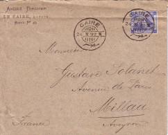 EGYPTE - CAIRE - 24-10-1892 - ENVELOPPE ENTETE ANDRE BIRCHER LE CAIRE BOITE N°45 POUR LA FRANCE. - Ägypten