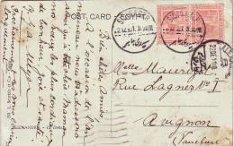 EGYPTE - SIDI GABER - 22-12-1910 + CACHET ALEXANDRIE - CARTE POSTALE POUR LA FRANCE - Ägypten
