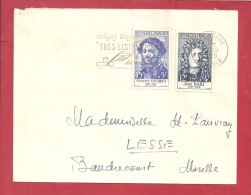 Y&T N° 1167+1169  MARSEILLE       Vers   BAUDRECOURT  Le   05 OCTOBRE 1959 2 SCANS - Covers & Documents