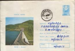 Romania -  Postal Stationery Envelope  1974 Circulated -Bicaz - The Dam The Accumulation Lake - Postal Stationery