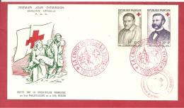 Y&T N° 1187+1188  PREMIER JOUR TOULOUSE   Le   5/6 DECEMBRE 1958 2 SCANS - Brieven En Documenten