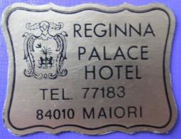 HOTEL ALBERGO PENSIONE REGINNA PALACE MAIORI MINI ITALIA ITALY TAG DECAL STICKER LUGGAGE LABEL ETIQUETTE AUFKLEBER