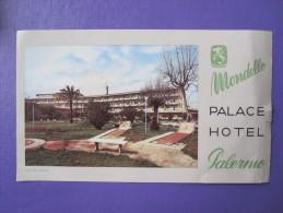 HOTEL ALBERGO PENSIONE NO PALACE PALERMO ITALIA ITALY TAG DECAL STICKER LUGGAGE LABEL ETIQUETTE AUFKLEBER
