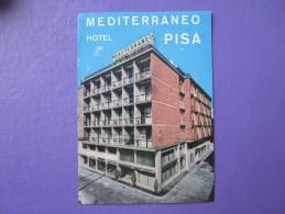 HOTEL ALBERGO PENSIONE MEDITERRANEO PISA ITALIA ITALY TAG DECAL STICKER LUGGAGE LABEL ETIQUETTE AUFKLEBER