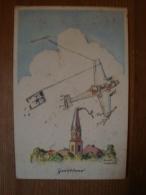 "Propagandakarte, Aquarell Künstler-Karte, ""Zerstörer"", Künstler Zeichnungen Aktiver Flieger, Gelaufven 1941 - Weltkrieg 1939-45"
