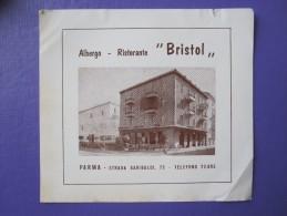 HOTEL ALBERGO PENSIONE BRISTOL PARMA ITALIA ITALY TAG DECAL STICKER LUGGAGE LABEL ETIQUETTE AUFKLEBER - Hotel Labels