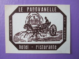 HOTEL ALBERGO PENSIONE PADOVANELLE PADOVA ITALIA ITALY TAG DECAL STICKER LUGGAGE LABEL ETIQUETTE AUFKLEBER - Etiquettes D'hotels