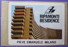 HOTEL ALBERGO PENSIONE RIPAMONTI MINI STAMP MILANO ITALIA ITALY TAG DECAL STICKER LUGGAGE LABEL ETIQUETTE AUFKLEBER