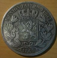 5 FRANCS BELGE 1869 - 1865-1909: Leopold II
